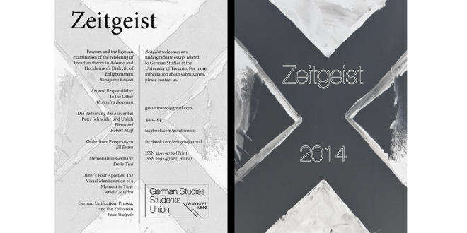 Undergraduate Journal of German Studies Zeitgeist now available online