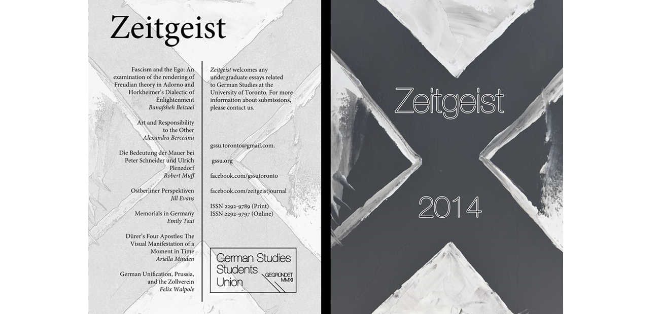 launch of undergraduate journal of german studies zeitgeist launch of undergraduate journal of german studies zeitgeist department of germanic languages literatures
