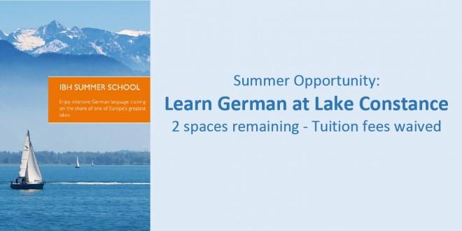 IBH Summer School Opportunities