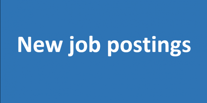 New job postings available