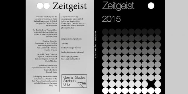 German Studies Undergraduate Journal Zeitgeist 2015 now available online