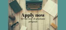 Apply now for the 2017-18 graduate program