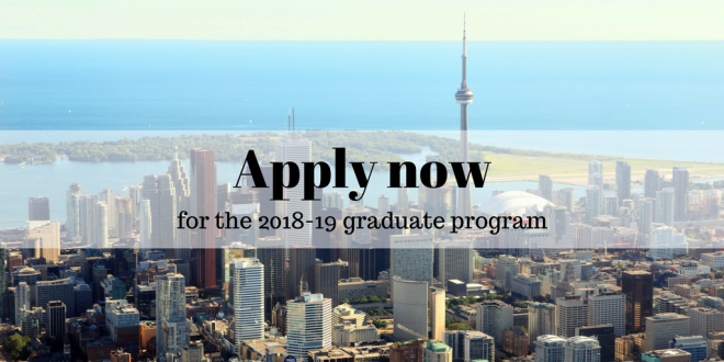 Apply now for the 2018-19 graduate program