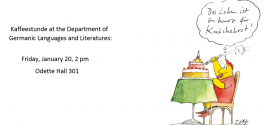Kaffeestunde: January 20, 2 pm