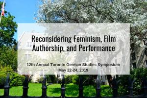 The 12th Toronto German Studies Symposium 2019