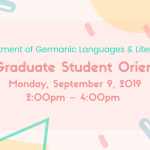 New Graduate Student Orientation 2019 website