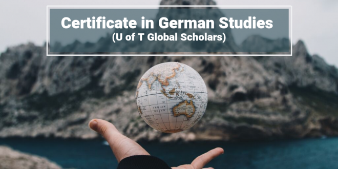 New Learning Pathway: Certificate in German Studies (U of T Global Scholars)