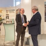 Prof. Cord-Friedrich Berghahn with the recipient and the Mayor of the City of Dessau-Rosslau