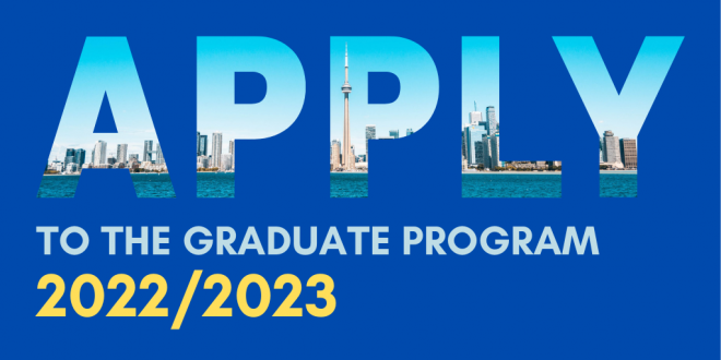 Apply now for the 2022-23 graduate program